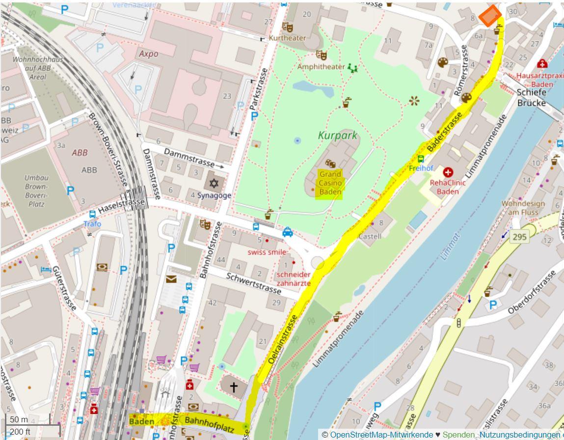 Lageplan Baden